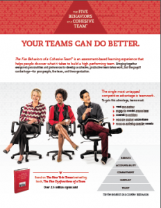 5 Behaviors of a Cohesive Team: Profiles