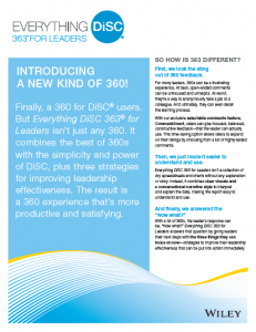 Everything DISC: 363 for Leaders
