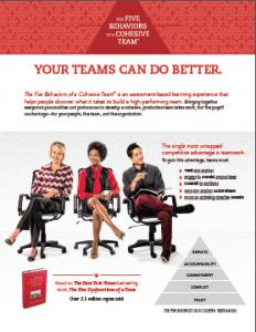 5 Behaviors of a Cohesive Team: Profiles